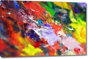 Краски на палитре