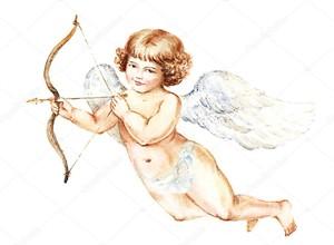 Ангел с крыльями и луком
