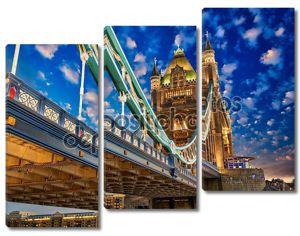 Красивые огни Тауэрский мост в Лондоне