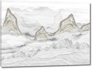 Острые верхушки гор