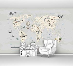 Детская карта континентов