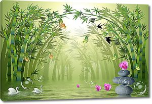 Арка из бамбука