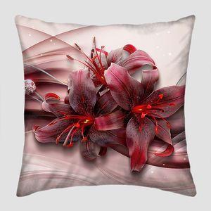 Бордовые бархатные лилии