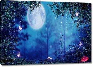 Полнолуние в сказочном лесу