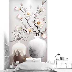 Три вазочки с сакурой