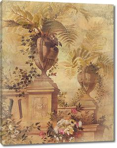Античные вазы в цветочном парке