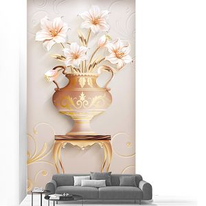 Лилии в вазе на столике