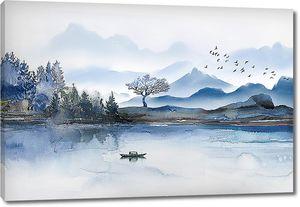 Голубые горы на голубой реке