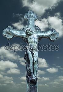 Скульптура распятие Иисуса Христа
