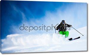 лыжник freeride