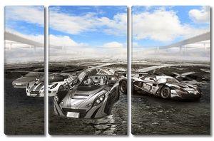 Черно-белые спортивные автомобили