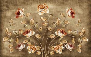 Золотой розовый куст