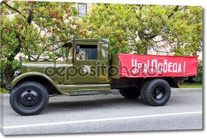 Сочи, день победы, автомобили праздничного кортежа