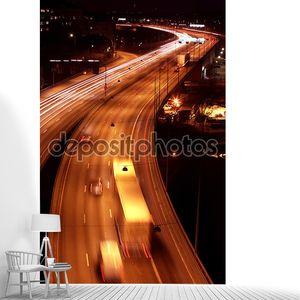 Автомобили ночью с motion blur