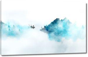 Голубой туман на реке