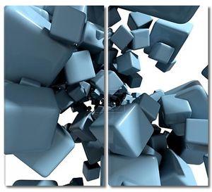 3-й абстрактный фон с синими кубами