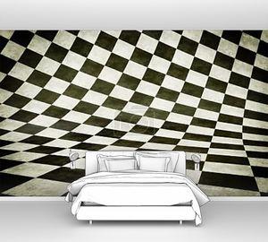 Изогнутая черно-белая поверхность