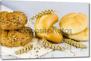 Белый хлеб с пшеницей