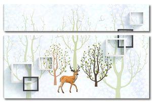 Олень среди абстрактных деревьев