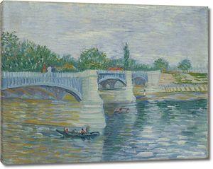 Ван Гог. Сена с мостом Гранд-Жатт