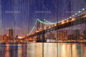 Манхэттенский мост через реку Гудзон