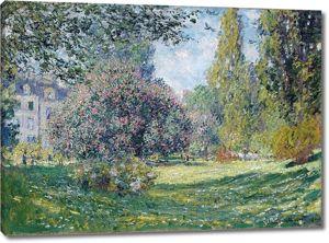 Моне Клод. Парк Монсо, Париж, 1876