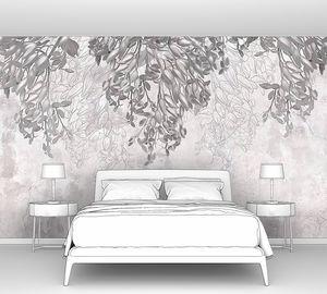 Свисающие цветы на серой стене