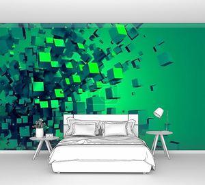 Абстрактные 3d-рендеринга хаотических кубов