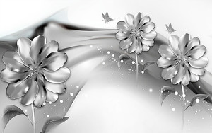 Цветки на шелке