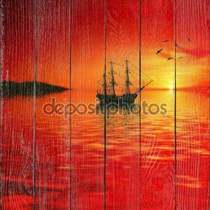 Пылающий закат