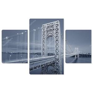 george вашингтонский мост, черный и белый
