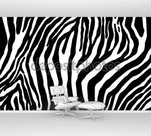 Зебра как текстура поверхности