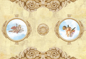 Два ангелочка в плафонах