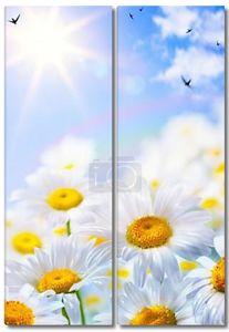 Искусство цветочные весной или летом фон