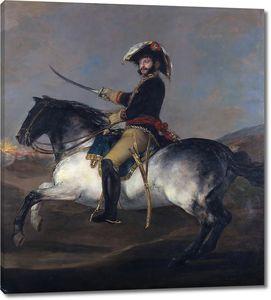 Гойя и Лусиентес Франсиско де. Генерал Хосе де Палафокс верхом