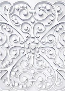 красивые цветочный Белый 3d