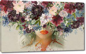 Имитация волос из цветов