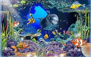Дельфин в подводной пещере