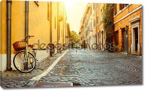Старая улица в Риме, Италия