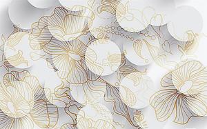 Круги с очертаниями цветов