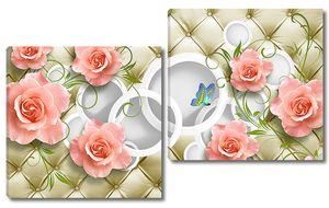 Цветы с объемным фоном