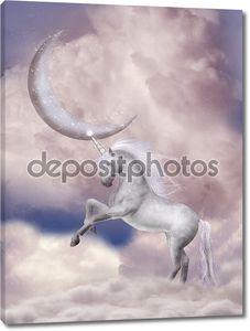 Единорог и розовая луна