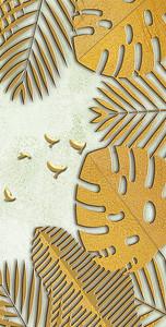 Золотые пальмовые листья