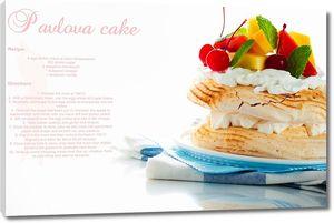 Многослойный тортик с фруктами