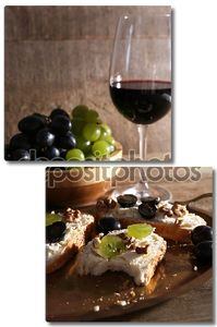 Красивый натюрморт с вином