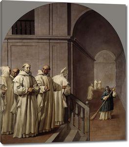 Кардучо Висенте. Смирение святых Юга и Гийома аббатом Теодофредо
