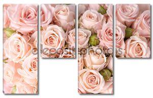 Яркие розовые розы фон