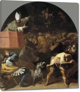 Кардучо Висенте. Стефан Шатийон, епископ Дьё, проповедующий людям