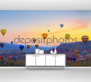 закат монгольфьеров Каппадокия, индейка