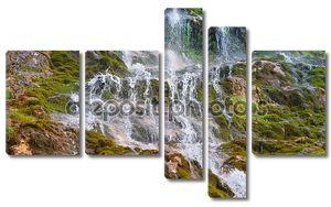 Водопад в Скалистых горах Кавказа